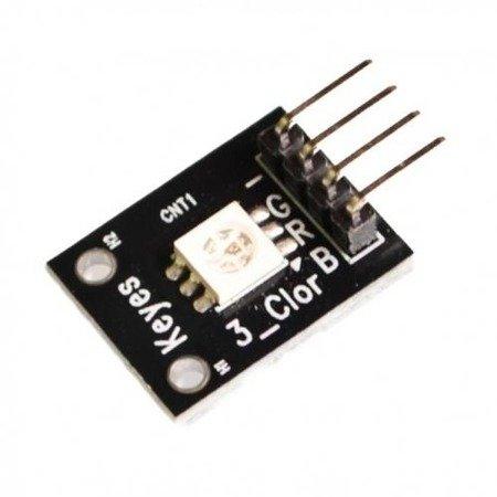 Moduł LED - Dioda LED RGB SMD 5050 - 3.3-5V - złącze goldpin - Arduino