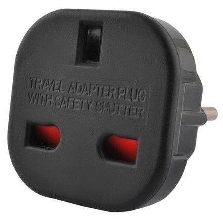 Adapter - przejściówka UK na EU - Angielska wtyczka na PL
