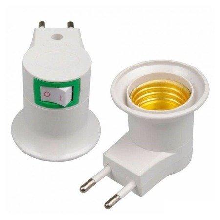 Adapter - przejściówka na żarówkę z gwintem E27 230V - końcówka