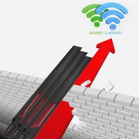 Antena WIFI 12dBi - dwuzakresowa 2.4GHz i 5G 5.8 GHz - RP-SMA