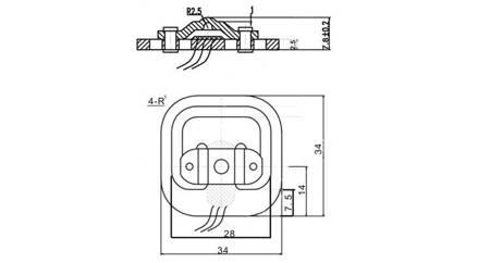 Belka Tensometryczna GML692 - 50kg (500N) - mini tensometr