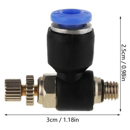 Bowden złącze - końcówka pneumatyczna z regulacja SL4-M6*1 - Bowden 4 mm