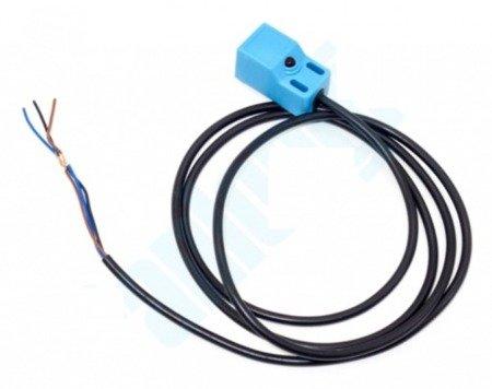 Czujnik indukcyjny zbliżeniowy prostokątny PNP NO - 4mm - 10-30 VDC - z przewodem - ROKO SN04-P