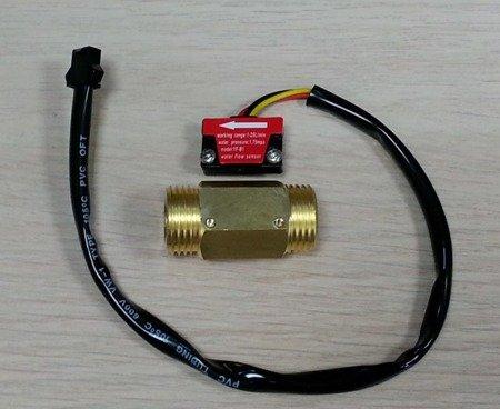Czujnik przepływu cieczy - mosiężny - 1-25L/min - 1/2'' - przepływomierz YF-B1