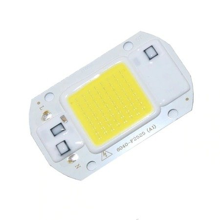 Dioda LED COB 20W - 230V - światło białe zimne - do halogenów i naświetlaczy