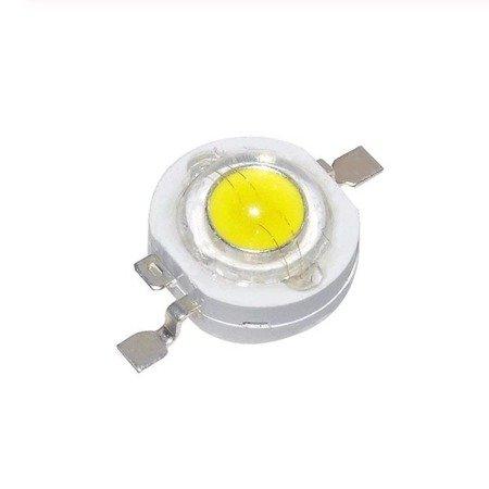 Dioda Power LED - 1W - 100-110lm - światło białe zimne - 7000-8000K - SMD