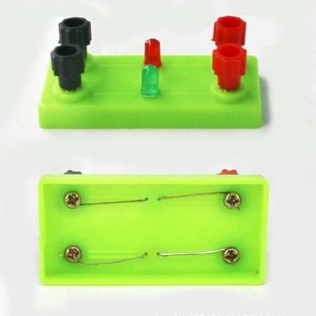 Diody LED 2x na podstawce  - do doświadczeń i budowy obwodów elektrycznych