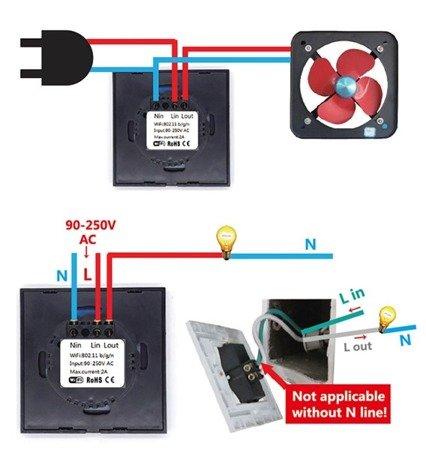 Dotykowy Przełącznik Światła  SONOFF  T1EU1C - 1 kanałowy