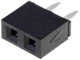 Gniazdo kołkowe 2,54mm - 2 piny - 10 szt - żeńskie - do układów elektronicznych