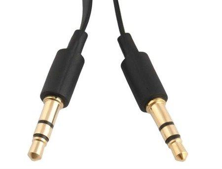 Kabel płaski mini Jack - 1m - adapter 2x mini jack