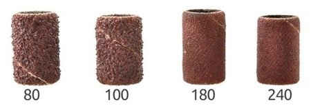Kapturki nakładki ścierne na frezy - 6x12 mm - gradacja 180 - Pierścień szlifierski - 100szt