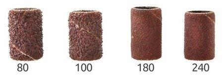 Kapturki nakładki ścierne na frezy - 8x12 mm - gradacja 80 - Pierścień szlifierski - 100szt