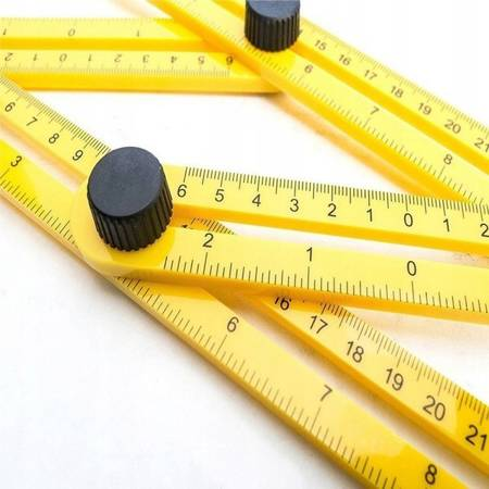 Kątomierz miarka wielopłaszczyznowa - wielofunkcyjny przymiar kątowy - linijka
