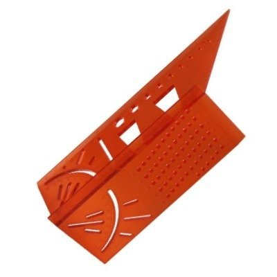 Kątownik japoński stolarski 3D - narożny wielofunkcyjny przymiar kątowy - linijka