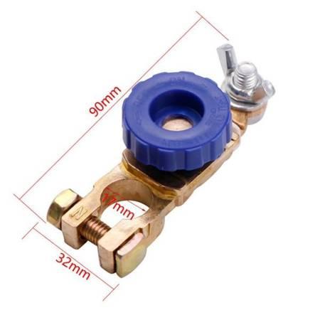 Klema hebel z motylkiem - wyłącznik masy akumulatora - 17mm - odłącznik prądu