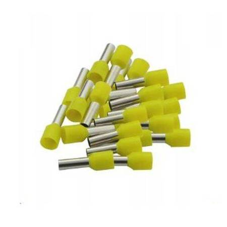 Końcówka kablowa VE0508 tulejkowa z izolacją - żółta 0,5mm2 - 100szt - Konektor