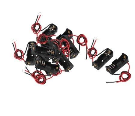 Koszyk na baterie 12V 23A - koszyczek kostka z przewodami