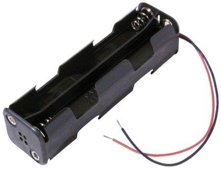 Koszyk na baterie 8xAA (R6) - koszyczek kostka z przewodami