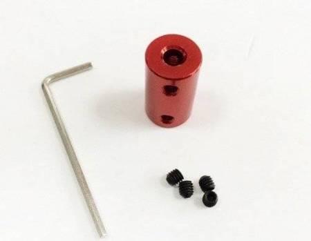 Łącznik osi - adapter z 4mm na 5mm - na wał silnika - oś