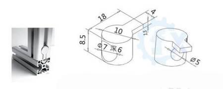 Łącznik wewnętrzny do profili aluminiowych 2020 - TSLOT, T-NUT, TNUT