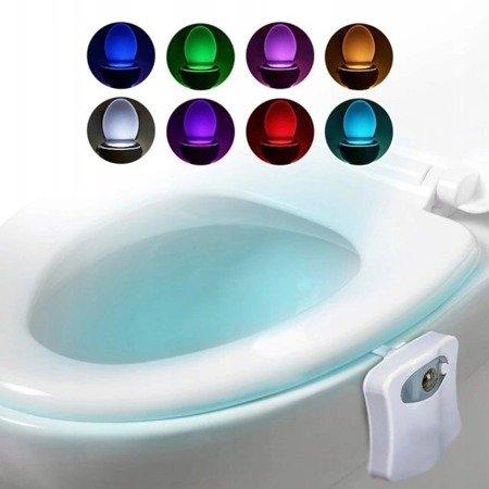 Lampka LED do WC - podświetlenie toalety z czujnikiem ruchu