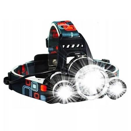 Latarka czołowa 3 x CREE T6 - LED - 2 akumulatory 18650 - duża moc
