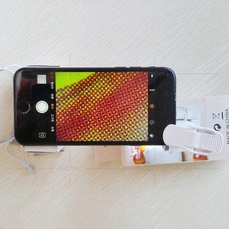 Lupa mikroskop do telefonu z klipsem - 9595W - 60x zoom - Diody LED UV