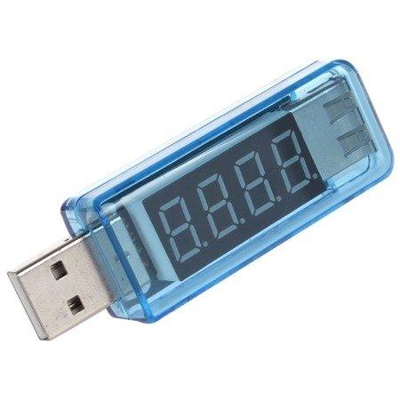 Miernik USB - pomiar napięcia, prądu oraz mocy - 3-8V i 0-3A i moc do 20W