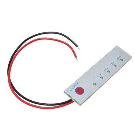 Miernik akumulatorów 12V - Panel kontrolny pomiaru napięcia - Skala LED