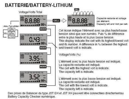 Miernik - tester akumulatorów - uniwersalny miernik do Lipol, LiFe, NiCd, NiMH - do 7S LiPol