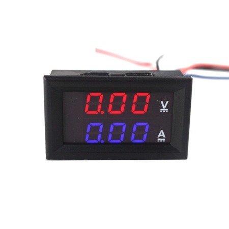 Miernik woltomierz i amperomierz 0-100V - 100A - 0.28' w obudowie