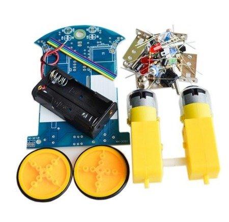 Mini robot jeżdżący D2-1 - inteligentny robot DIY KIT - podwozie robota, dwa silniki
