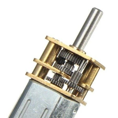 Mini silnik szczotkowy GA12-N20 - 200RPM - wał 10 mm - 3-6V z przekładnią