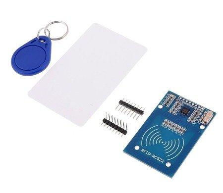 Moduł czytnika RFID RC522 13,56MHz + karta + brelok - Arduino - KLON - zasięg 1cm