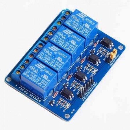 Moduł przekaźnika 4-kanały - 5V - 10A/250V - z optoizolacją - Arduino