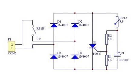 Moduł regulatora mocy 230V AC - KIT - ściemniacz - 100W - do oświetlenia