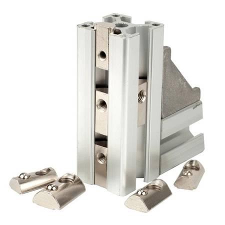 Nakrętka ślizgowa M5 z kulką - wpust - do profili aluminiowych 2020 - 10szt - TSLOT, T-NUT, TNUT