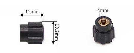 Nakrętka złącza zakręcanego z gwintem 4mm - czerwona - gałka - JS900A
