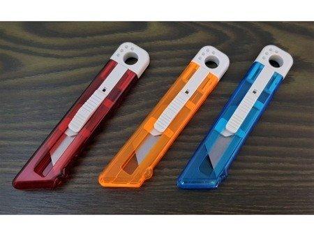 Nożyk uniwersalny - automatycznie chowane ostrze - nóż do tapet papieru