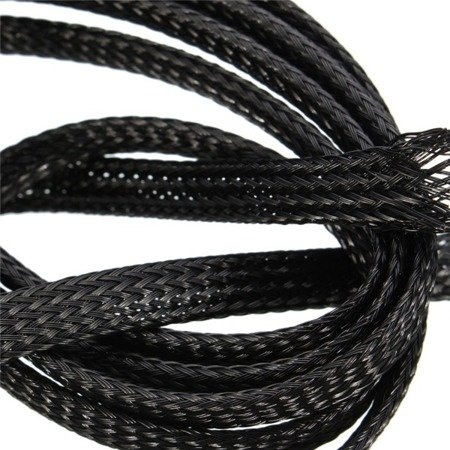 Oplot na przewody 15mm/25mm - Oplot poliestrowy/ Plecionka - black - 1mb