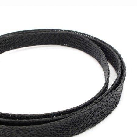 Oplot na przewody 3mm/6mm -  Oplot poliestrowy/ Plecionka - black - 1mb