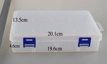 Organizer 2 przegródki 201x135x46mm - pojemnik na drobiazgi