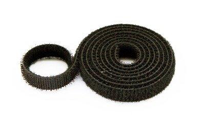 Organizer kabli - Rzep dwustronny 10 mm x 1-mb czarny - opaska mocująca