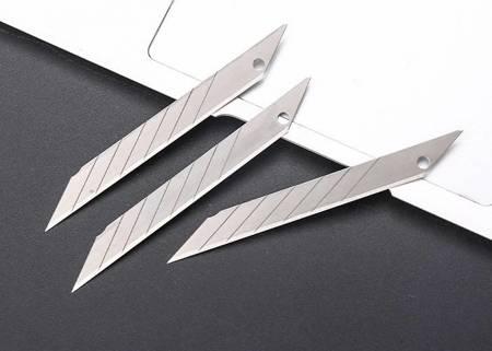 Ostrze zapasowe 9mm do nożyka uniwersalnego - 10szt - łamane ostrza