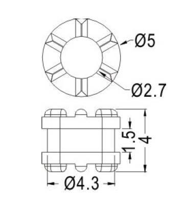 Podkładka Antywibracyjna - M3/4,5mm TGM-17 - tłumik drgań - amortyzator