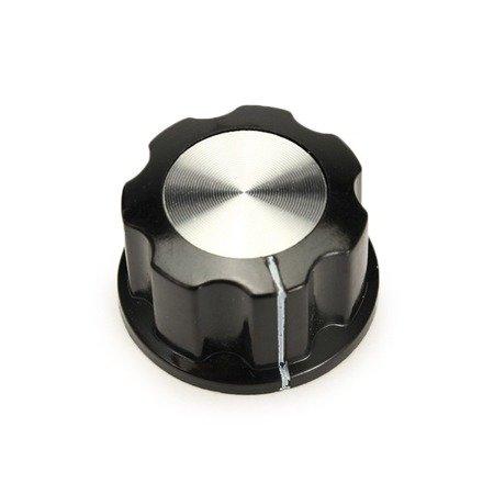 Pokrętło do potencjometru MF-A03 - gałka bakelitowa z rdzeniem miedzianym 6 mm
