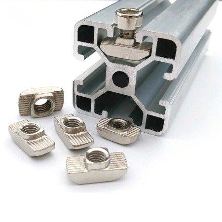 Profil aluminiowy T6 2020 600mm - anodowany - do drukarek 3D, stelaży, maszyn przemysłowych