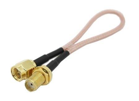 Przejście - SMA jack na SMA plug - adapter prosty z przewodem 300mm
