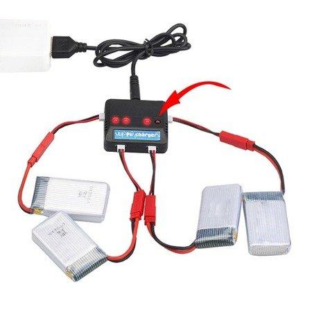 Przejście adapter - wtyk JST 2pin na Molex 51005 - przewód 35mm