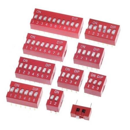 Przełącznik DIP switch 8P - przełącznik suwakowy 8-kanałowy